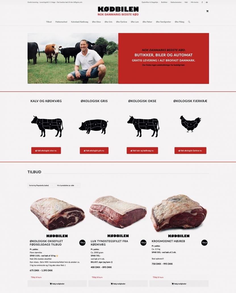 Design af hjemmeside til kødbilen.dk